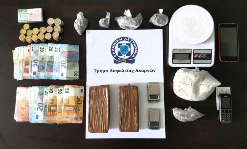 Σύλληψη για διακίνηση ναρκωτικών στο Ζεφύρι/ Φωτογραφία astynomia.gr