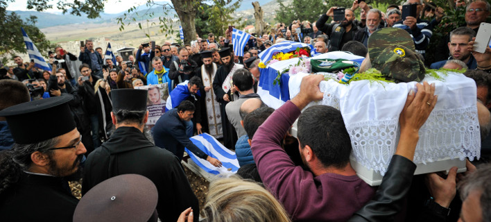 Κηδεία Κωνσταντίνου Κατσίφα (Φωτογραφία: EUROKINISSI/ΛΕΩΝΙΔΑΣ ΜΠΑΚΟΛΑΣ)