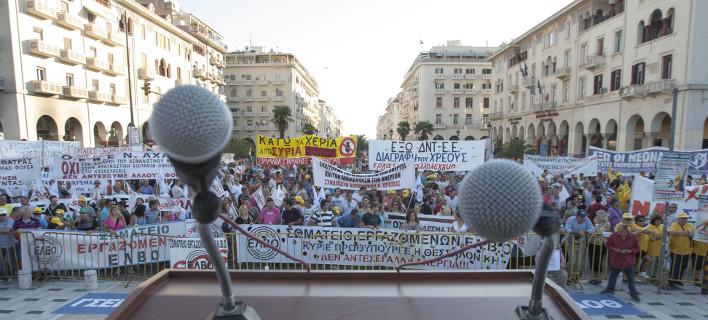 Εκδηλωσεις της ΓΣΕΕ μαζί με το Εργατικό Κέντρο Θεσσαλονίκης, Φωτογραφία: eurokinissi ΤΡΥΨΑΝΗ ΦΑΝΗ