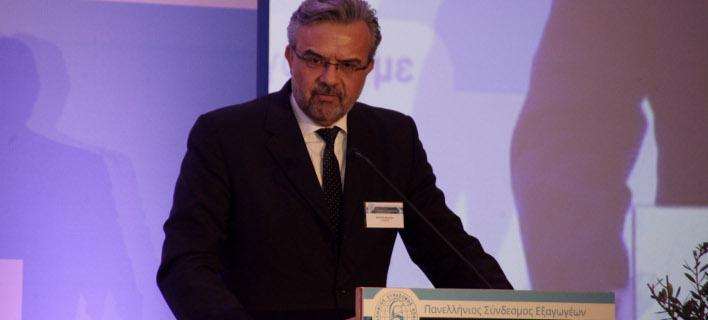 Ο Διευθύνων Σύμβουλος της Τράπεζας Πειραιώς Χρήστος Μεγάλου, φωτογραφία: eurokinissi