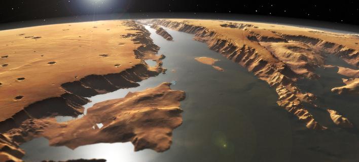 Αποκάλυψη: Ο Αρης είχε τεράστιο ωκεανό! - Δύο «τρομακτικά» τσουνάμι είχαν εξαφανίσει τα ίχνη του
