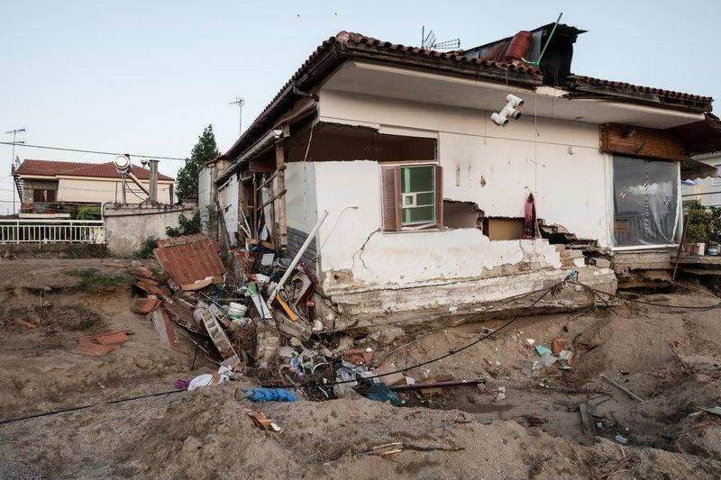 Το σπίτι αυτό καταστράφηκε ολοσχερώς από την καταιγίδα στα τέλη του Ιουνίου