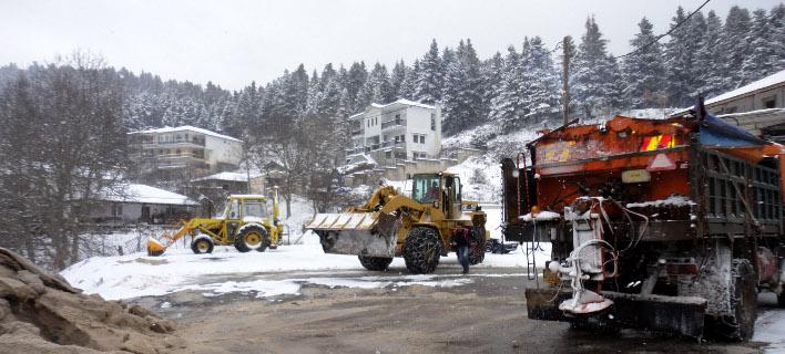 Χιόνια, EUROKINISSI/ΠΕΡΙΦΕΡΕΙΑΚΗ ΕΝΟΤΗΤΑ ΤΡΙΚΑΛΩΝ
