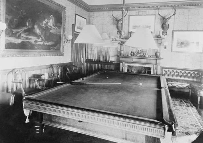 Η αίθουσα μπιλιάρδου στο York Cottage /Οκτώβριος του 1897