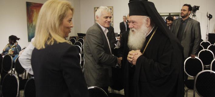 Συνάντηση Ιερώνυμου-Δούρου, Φωτογραφία: ΧΡΗΣΤΟΣ ΜΠΟΝΗΣ//EUROKINISSI