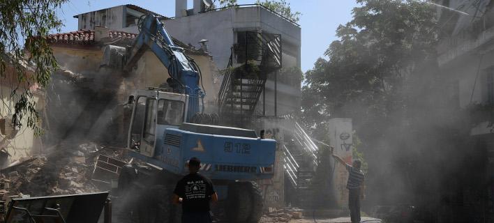 Γκρέμισμα κατάληψης στα Εξάρχεια /Φωτογραφία: Ιntime News-ΒΑΡΑΚΛΑΣ ΜΙΧΑΛΗΣ