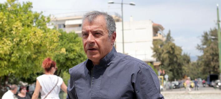 Ο Σταύρος Θεοδωράκης/ Φωτογραφία intime news