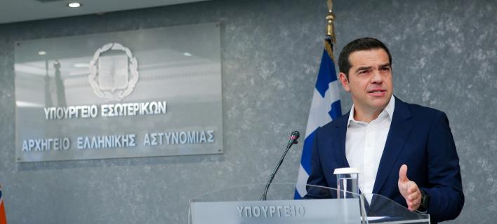 Ο Αλέξης Τσίπρας/ Φωτογραφία intime news