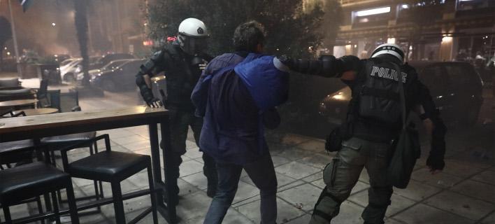 Επεισόδια Θεσσαλονικη/ Φωτογραφία intime news