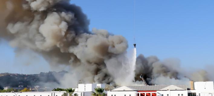 Πυρκαγιά στο Πανεπιστήμιο Κρήτης /Φωτογραφία intime news