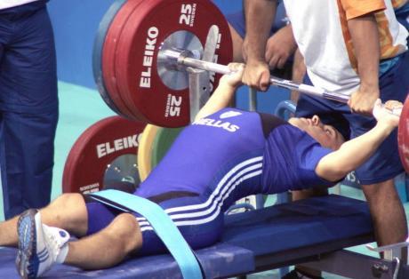 Αποτέλεσμα εικόνας για αρση βαρων σε παγκο παραολυμπιακοι