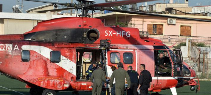 Με ελικόπτερο του ΕΚΑΒ, φωτογραφία: eurokinissi