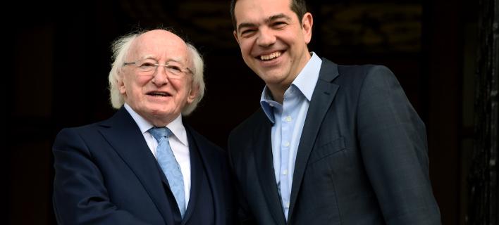 Τσίπρας σε Ιρλανδό Πρόεδρο: Οι Ελληνες υπέφεραν περισσότερο από τους Ιρλανδούς, λόγω κρίσης