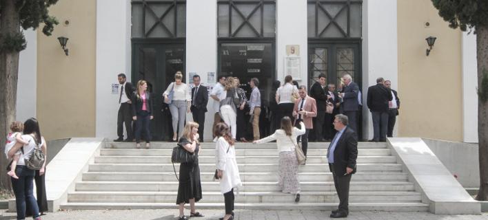 Μετά από την παρέμβαση του προέδρου της Ολομέλειας των Δικηγορικών Συλλόγων, Φωτογραφία: Eurokinissi/ΔΗΜΗΤΡΟΠΟΥΛΟΣ ΣΩΤΗΡΗΣ