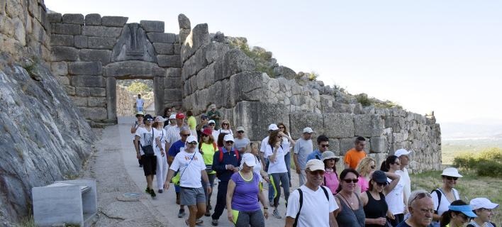 Σημειώθηκε αύξηση στον αριθμό επισκεπτών / Μυκήνες, φωτογραφία: eurokinissi Βασίλης Παπαδόπουλος