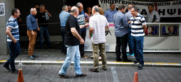 Δηλώνουν αποφασισμένοι να συναντήσουν τον υπουργό, φωτογραφία: EUROKINISSI/ΧΡΗΣΤΟΣ ΜΠΟΝΗΣ