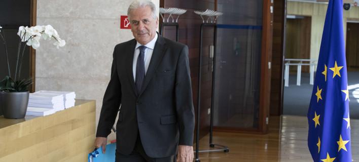 Ο Ευρωπαίος επίτροπος Μετανάστευσης, Εσωτερικών Υποθέσεων και Ιθαγένειας, Δημήτρης Αβραμόπουλος, Φωτογραφία: EUROKINISSI/ΕΥΡΩΠΑΪΚΗ ΕΝΩΣΗ