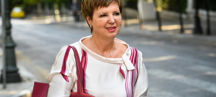 Η υπουργός Προστασίας του Πολίτη Όλγα Γεροβασίλη, φωτογραφία: Eurokinissi/ΜΠΟΛΑΡΗ ΤΑΤΙΑΝΑ