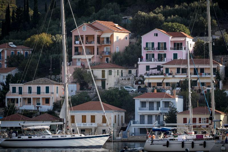 Εικόνα από το λιμάνι της Ιθάκης/Φωτογραφία: Eurokinissi