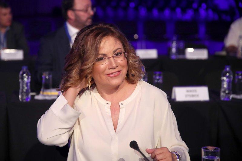 Η εκπρόσωπος Τύπου της ΝΔ, Μαρία Σπυράκη, ετοιμάζεται να συντονίσει τη συνέντευξη