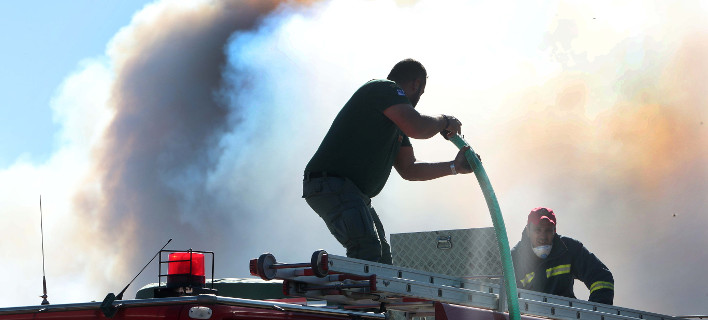 Πυρκαγιά κατέκαψε χορτολιβαδικές εκτάσεις / φωτογραφία: eurokinissi