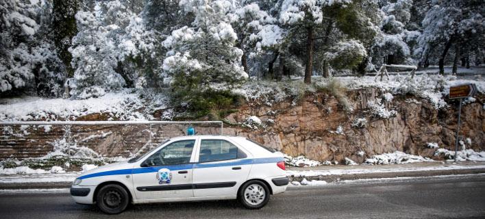 Χιόνια, φωτογραφία: EUROKINISSI/ΣΤΕΛΙΟΣ ΜΙΣΙΝΑΣ