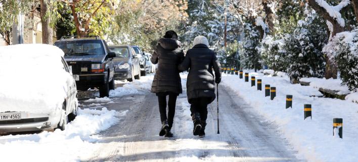 Χιόνι, φωτογραφία: EUROKINISSI/ΒΑΣΙΛΗΣ ΡΕΜΠΑΠΗΣ