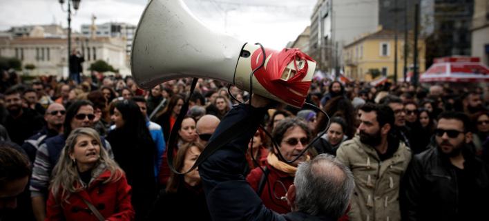 Απεργία: φωτογραφία: EUROKINISSI / ΣΤΕΛΙΟΣ ΜΙΣΙΝΑΣ