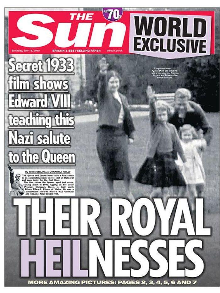 Σκάνδαλο!! Η βασίλισσα Ελισάβετ, στα 6 της χρόνια, χαιρετάει ναζιστικά!![Photo]