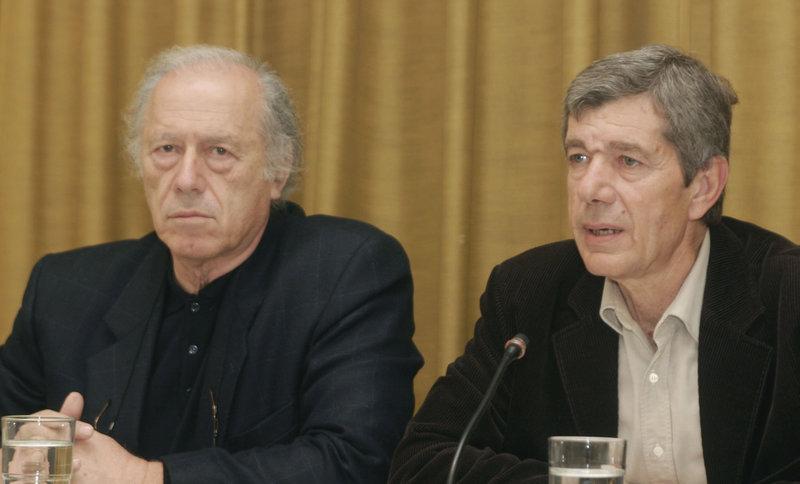 Ο Γιώργος Κατσιμπάρδης (αριστερά) διετέλεσε βουλευτής Βοιωτίας για 23 χρόνια (δεξιά ο Α. Κοτσακάς)