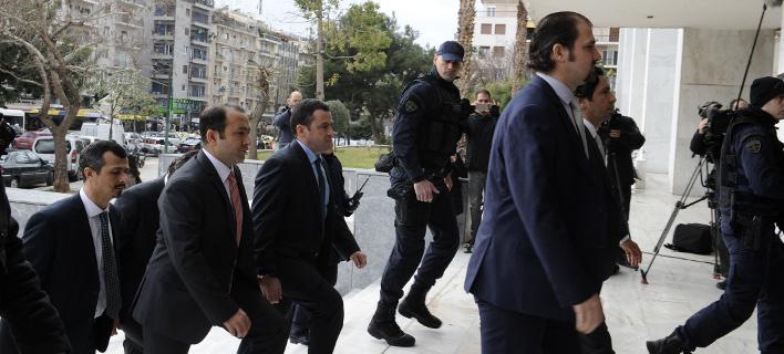 Οι «8» Τούρκοι στρατιωτικοί (Φωτογραφία: EUROKINISSI/ΣΤΕΛΙΟΣ ΜΙΣΙΝΑΣ)