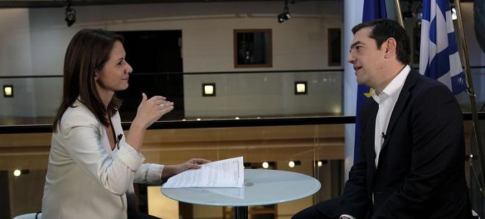 Συνέντευξη του Αλέξη Τσίπρα /Φωτογραφία Euronews