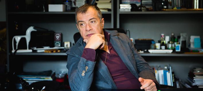 Ο Σταύρος Θεοδωράκης σε μια εκ βαθέων συνέντευξη / Φωτογραφία: iefimerida.gr/Πάνος Μάλλιαρης