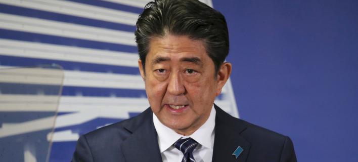 O Ιάπωνας πρωθυπουργός Σίνζο Άμπε (Φωτογραφία: ΑΡ)