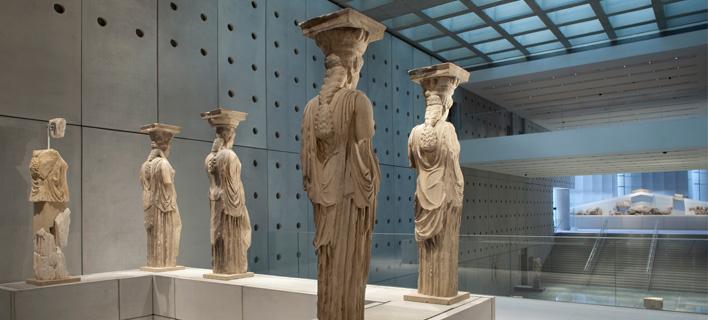 Οι Καρυάτιδες από το Ερέχθειο. Φωτογραφία: Νίκος Δανιηλίδης/Μουσείο Ακρόπολης.