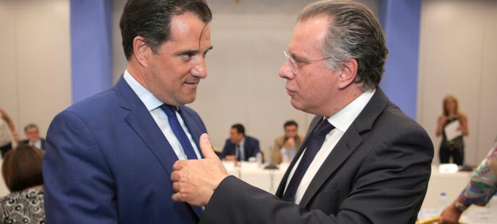 Αδωνις Γεωργιάδης & Γιώργος Κουμουτσάκος (Φωτογραφία: IntimeNews/ΣΤΕΦΑΝΟΥ ΣΤΕΛΙΟΣ)