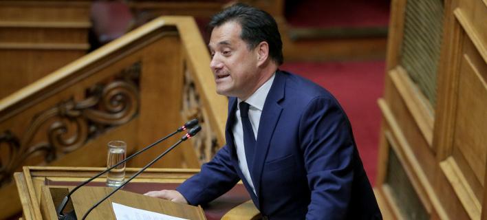 Ο Αδωνις Γεωργιάδης στη Βουλή για την υπόθεση Novartis -Φωτογραφία: Intimenews