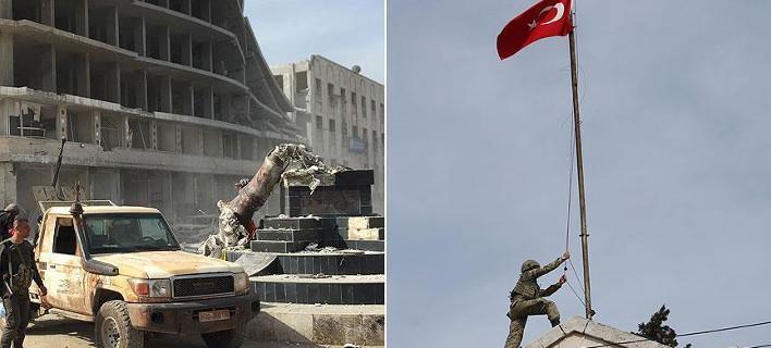 Τα πρώτα βίντεο του τουρκικού στρατού από το κέντρο του Αφρίν -Σήκωσαν την τουρκική σημαία