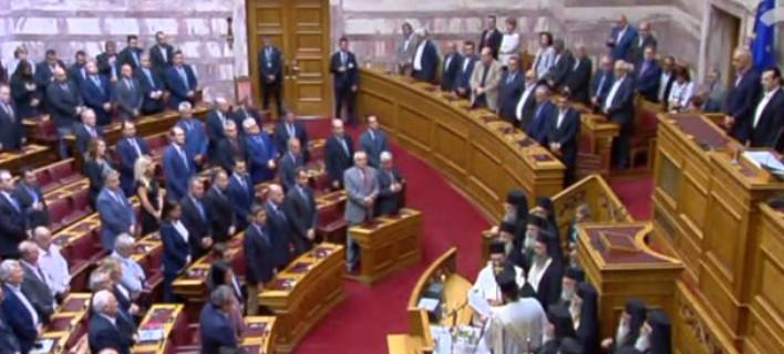 Δείτε live τον αγιασμό στην Ολομέλεια της Βουλής