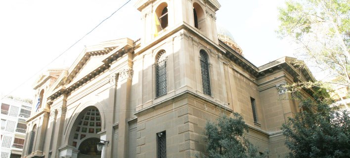 H εκκλησία του Αγίου Διονυσίου του Αρεοπαγίτη στο Κολωνάκι / Φωτογραφία:  ΕUROKINISSI - MΠΟΝΗΣ ΧΡΗΣΤΟΣ
