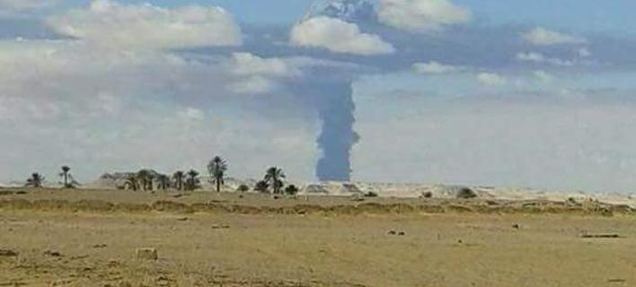 Λιβύη: Εκρηξη σημειώθηκε σε αγωγό πετρελαίου(Φωτογραφία: Twitter)