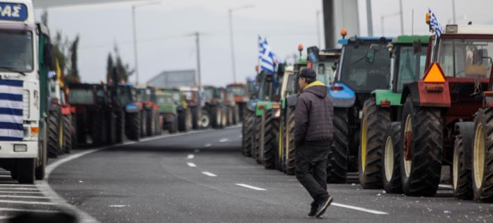 Εικόνα από παλαιότερη κινητοποίηση αγροτών / Φωτογραφία: EUROKINISSI