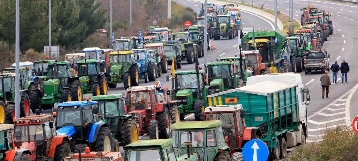 Εικόνα αρχείου από αγρότες στη Νίκαια Λάρισας / Φωτογραφία: InTime News