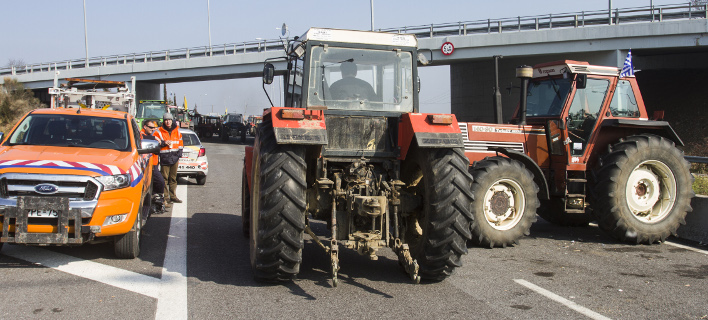 Τρακτέρ από παλαιότερη κινητοποίηση των αγροτών/Φωτογραφία αρχείου: Eurokinissi