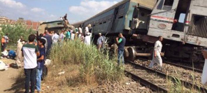 Πολλοί νεκροί και τραυματίες από τη μετωπική σύγκρουση τρένων στην Αλεξάνδρεια (Φωτογραφία: TWITTER)