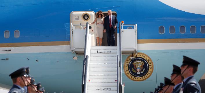 Ο Τραμπ θέλει να αλλάξει χρώμα στο Air Force One (Φωτογραφία: AP Photo/Pablo Martinez Monsivais)