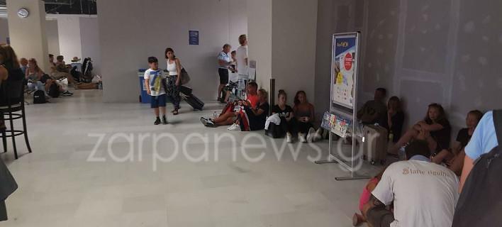 Χώρος αναμονής στο αεροδρόμιο Χανίων/ Φωτογραφία zarpanews.gr