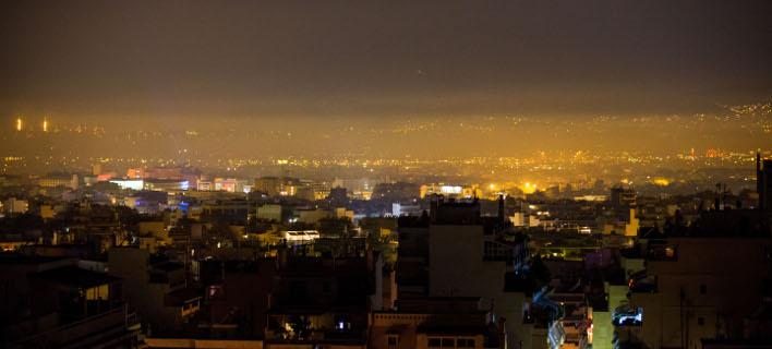 Αιθαλομίχλη στην Αθήνα, Φωτογραφία: Eurokinissi