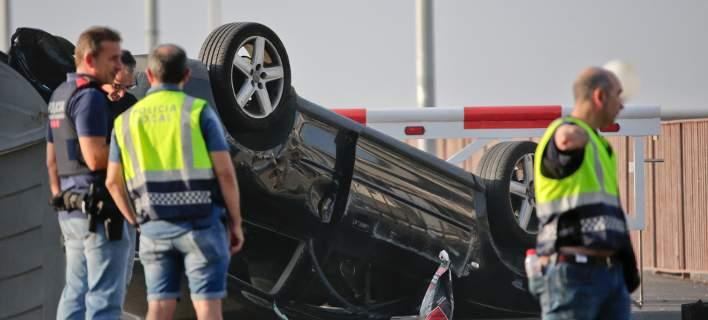 Το Audi στο θέρετρο Καμπρίλς, που επιτέθηκε σε πεζούς/ Φωτογραφία: AP Photo/Emilio Morenatti