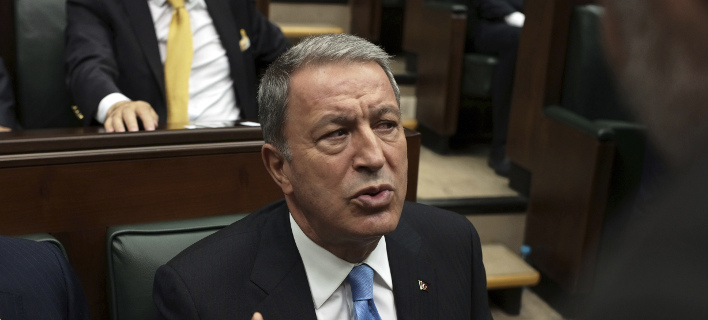 Ο Τούρκος υπουργός Αμυνας Χουλουσί Ακάρ- φωτογραφία AP